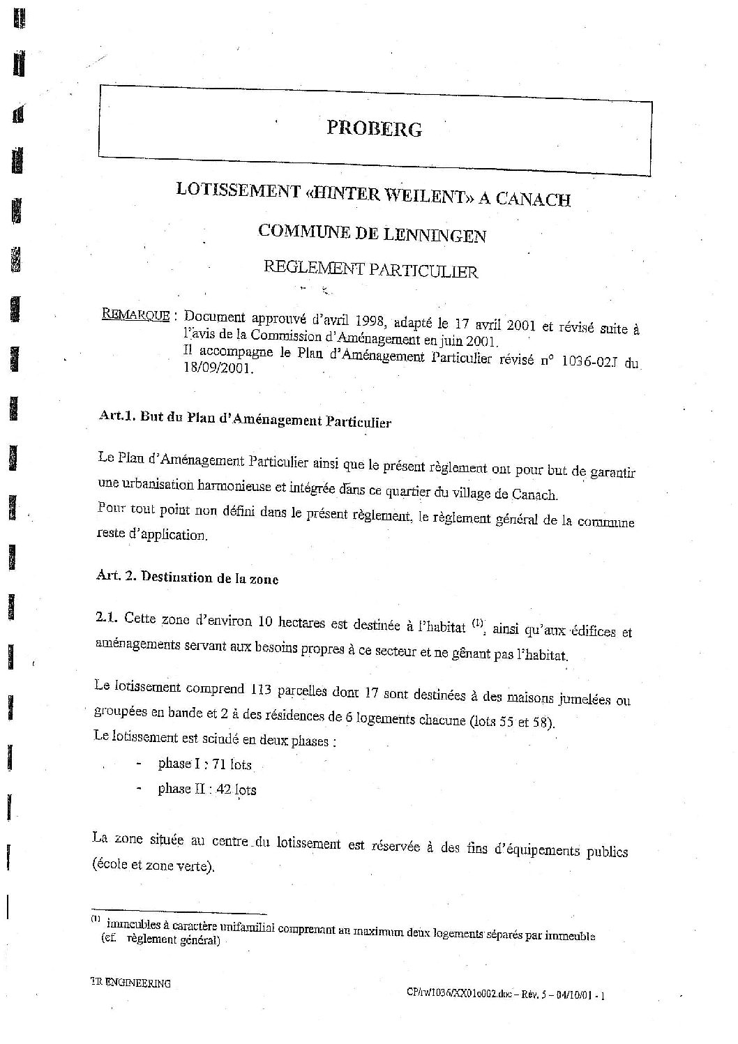 """PAP """"Hinter Weilent"""" à Canach"""